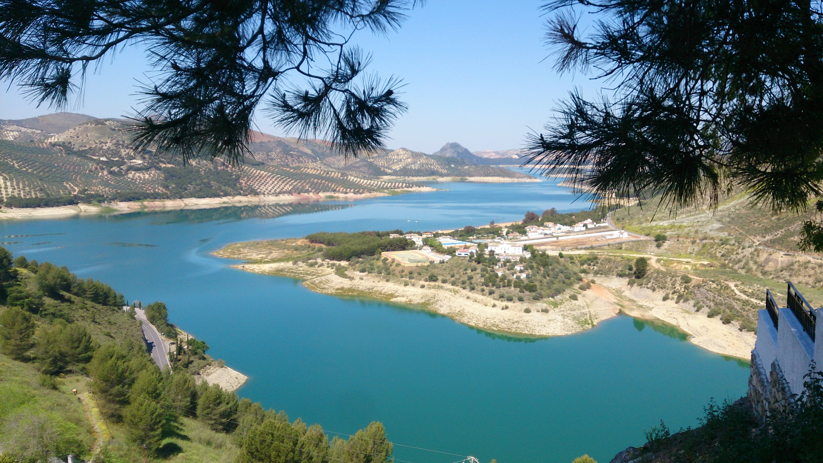 A view of the largest lake in Andalusia from the view point in Iznajar