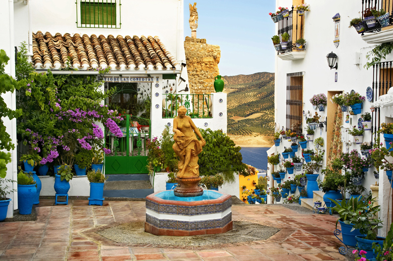 Patio de las Comedias in the Moorish village of Iznajar